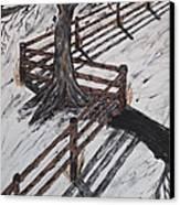 Winter Moon Shadow Canvas Print by Jeffrey Koss