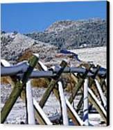 Winter On Horsetooth Mountain Canvas Print