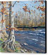 Winter On The Little Harpeth Canvas Print by Sandra Harris