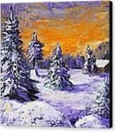 Winter Outlook Canvas Print by Anastasiya Malakhova