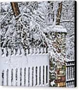 Winter Park Fence Canvas Print by Elena Elisseeva