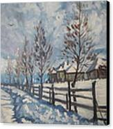 Winter Path Canvas Print by Andrei Attila Mezei