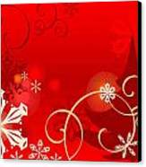 Winter Red Canvas Print by Clipartdesign