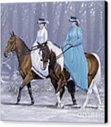 Winter Ride Canvas Print by John Silver
