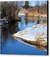 Winter River4 Canvas Print by Jennifer  King