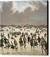 Winter Scene Circa 1859 Canvas Print by Aged Pixel