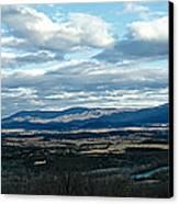 Winter Shenandoah River View Canvas Print by Lara Ellis
