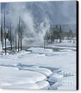 Winter Solitude Canvas Print by Sandra Bronstein