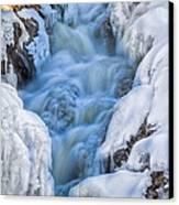 Winter Sunrise Great Falls Canvas Print