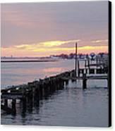 Winter Sunset Freeport Canvas Print