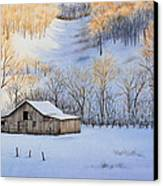 Winter Sunset Canvas Print by Michelle Wiarda