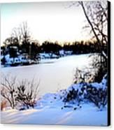 Winter Wonderland  In Maryland Usa Canvas Print