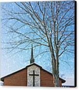 Winter Worship Canvas Print by Bill Tiepelman