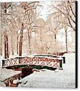 Winter's Bridge Canvas Print