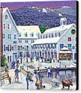 Wintertime At Waterville Valley New Hampshire Canvas Print by Nancy Griswold