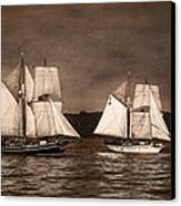 With Full Sails Canvas Print by Dale Kincaid