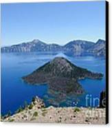 Wizard Island Crater Lake Oregon Usa Canvas Print by John Kelly