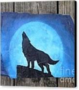 Wolf Howl2 Canvas Print