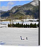 Wolffork Valley Winter Canvas Print by Susan Leggett