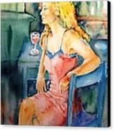 Woman Waiting  Canvas Print by Trudi Doyle