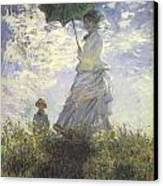 Woman With A Parasol Canvas Print