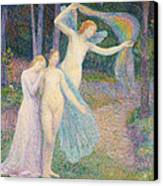 Women Amongst The Trees Canvas Print by Hippolyte Petitjean