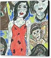 Women Of The 90's Collage Canvas Print by Mark Flanagan