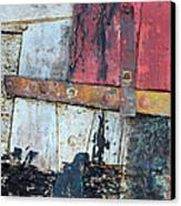 Wood And Metal Abstract Canvas Print by Jill Battaglia