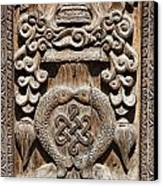 Wood Carving At Bhaktapur In Nepal Canvas Print by Robert Preston