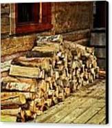 Wood Canvas Print by Marty Koch