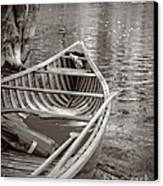 Wooden Canoe Canvas Print