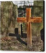Wooden Cross Canvas Print by Hans Engbers