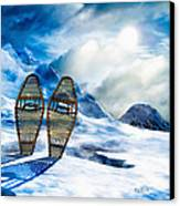 Wooden Snowshoes  Canvas Print by Bob Orsillo