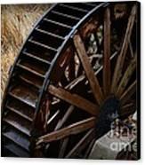 Wooden Water Wheel Canvas Print by Paul Ward