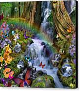 Woodland Forest Fairyland Canvas Print by Alixandra Mullins