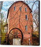Wood's Grist Mill In Northwest Indiana Canvas Print by Paul Velgos