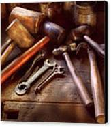 Woodworker - A Collection Of Hammers  Canvas Print