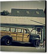Woody Bus Canvas Print by Alana Ranney