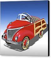 Woody Peddle Car Canvas Print