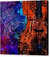 Woody Sound Canvas Print