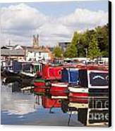 Worcester Diglis Basin Narrow Boats Canvas Print by Colin and Linda McKie