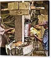 Working Hard For Sugar Canvas Print