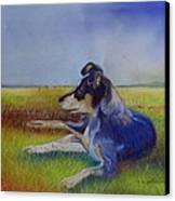 Working Man's Dog Canvas Print by Sandra Sengstock-Miller