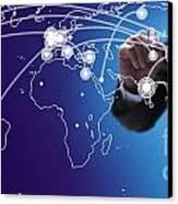 World Economies Map Canvas Print by Atiketta Sangasaeng