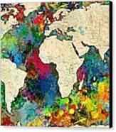 World Map Colorful Canvas Print by Gary Grayson