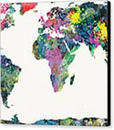World Map Canvas Print by Mike Maher