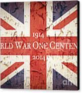 World War One Centenary Union Jack Canvas Print by Jane Rix