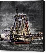 World's Oldest Commissioned Warship Afloat - Uss Constitution Canvas Print by Ludmila Nayvelt