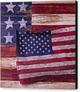 Worn American Flag Canvas Print