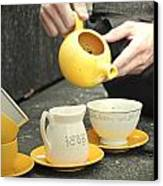 Would You Like A Little More Tea Canvas Print